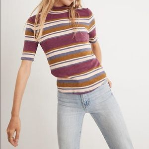 Madewell Mockneck Top Size Small